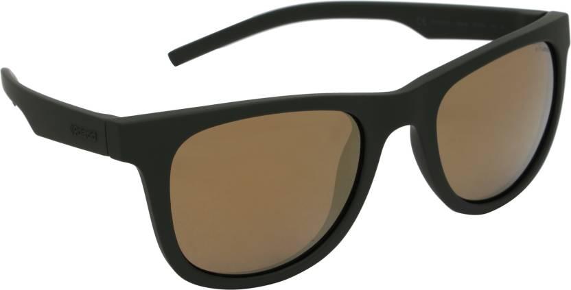23abfbd680e Buy Polaroid Wayfarer Sunglasses Golden For Men   Women Online ...