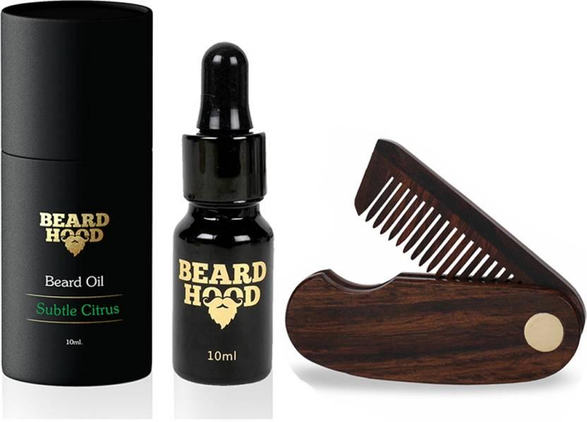 Beardhood Subtle Citrus Beard Oil (10ml) & Folding Beard Comb Price
