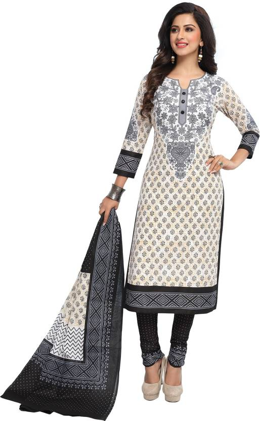 f4c75d8a6b Giftsnfriends Cotton Printed Salwar Suit Dupatta Material Price in ...