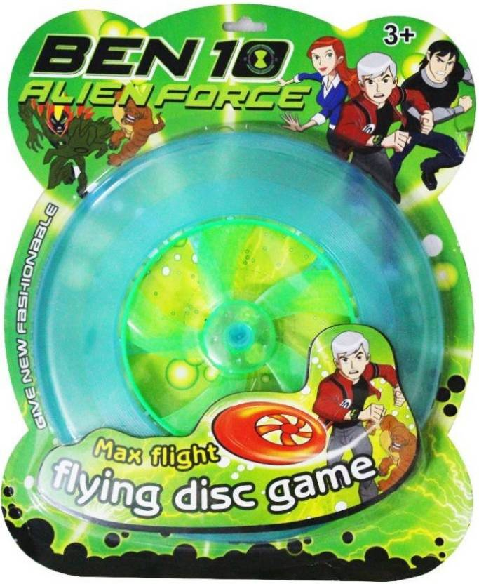 Akshat Ben 10 flying Disc assorted colors with Led light (Multicolor)