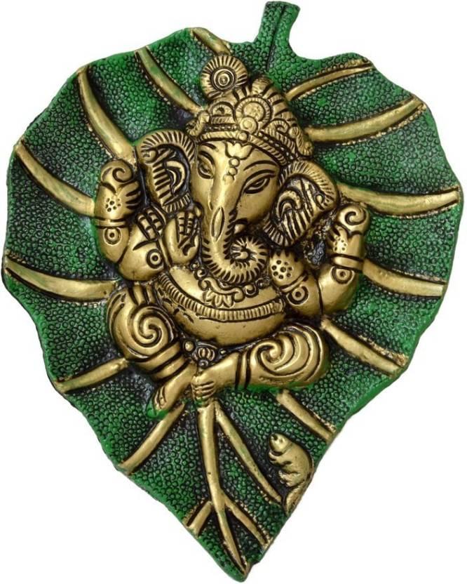 Traditional Rajasthan Auspicious Ganesha Wall Hanging Showpiece  -  20 cm