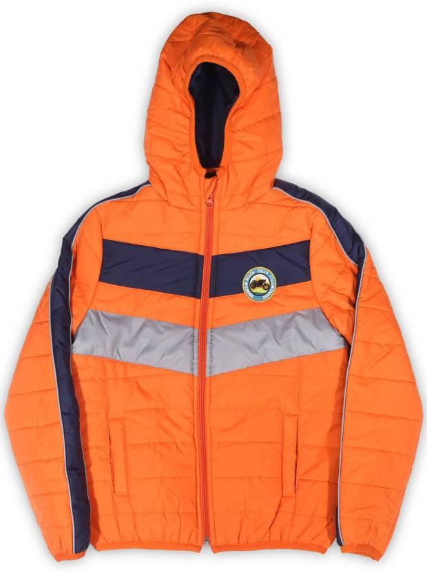 8d2f85ee4 Allen Solly Junior Full Sleeve Solid Boys Jacket - Buy Orange Allen ...