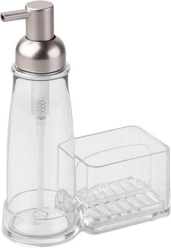 InterDesign Clarity Kitchen Soap Dispenser Pump and Sponge ...