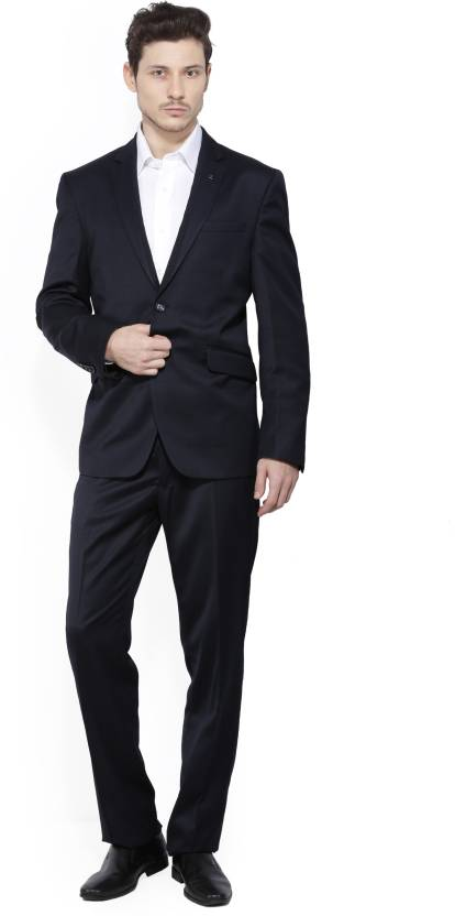 5e85c80af3c Van Heusen Suit Solid Men's Suit - Buy Dark blue Solid Van Heusen Suit  Solid Men's Suit Online at Best Prices in India