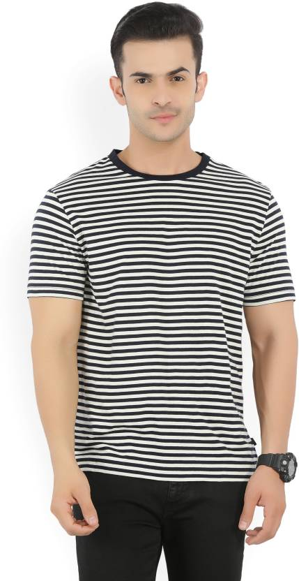 98887543de Nautica Striped Men Round Neck White, Blue T-Shirt - Buy True Navy Nautica  Striped Men Round Neck White, Blue T-Shirt Online at Best Prices in India  ...
