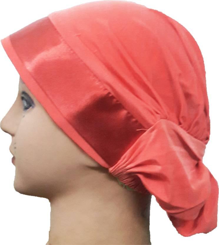 acf1948c016 Cwen Collection Embellished Hijab PEACH LYCRA TURBAN CAP SATIN ...