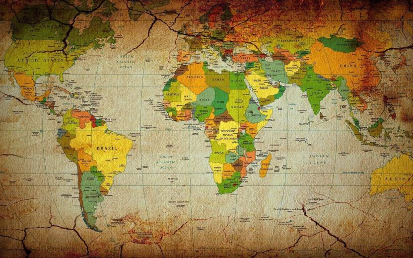 World map wallpaper HD (2) on LARGE PRINT 36X24 INCHES ...
