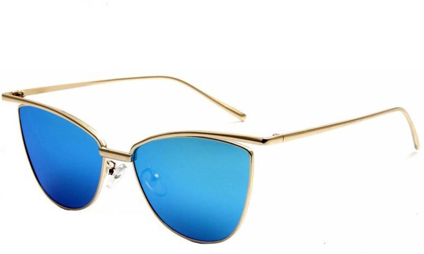 4ea3e8338e9 Buy RazMaz Cat-eye Sunglasses Blue For Women Online   Best Prices in ...