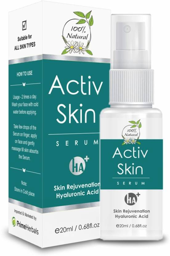 Prime Herbals Hyaluronic Acid Activ Skin Serum for Anti Aging, Acne Scar & Dark Spot removal by Prime Herbals