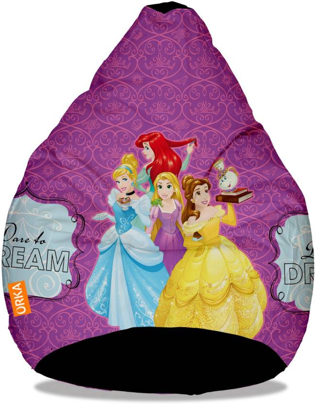orka xxl disney princess digital printed bean bag with bean
