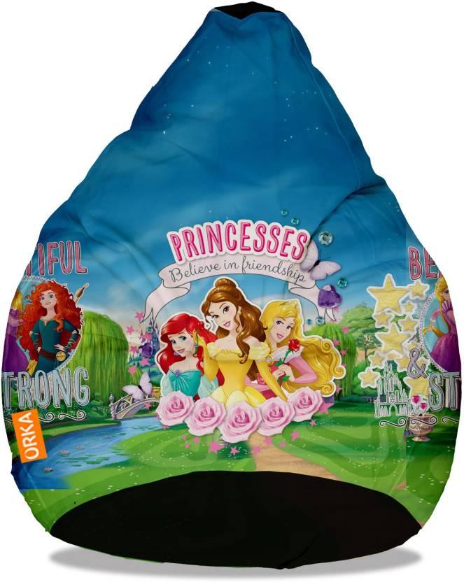 Superb Orka Xxl Princess Digital Printed Bean Bag With Bean Machost Co Dining Chair Design Ideas Machostcouk