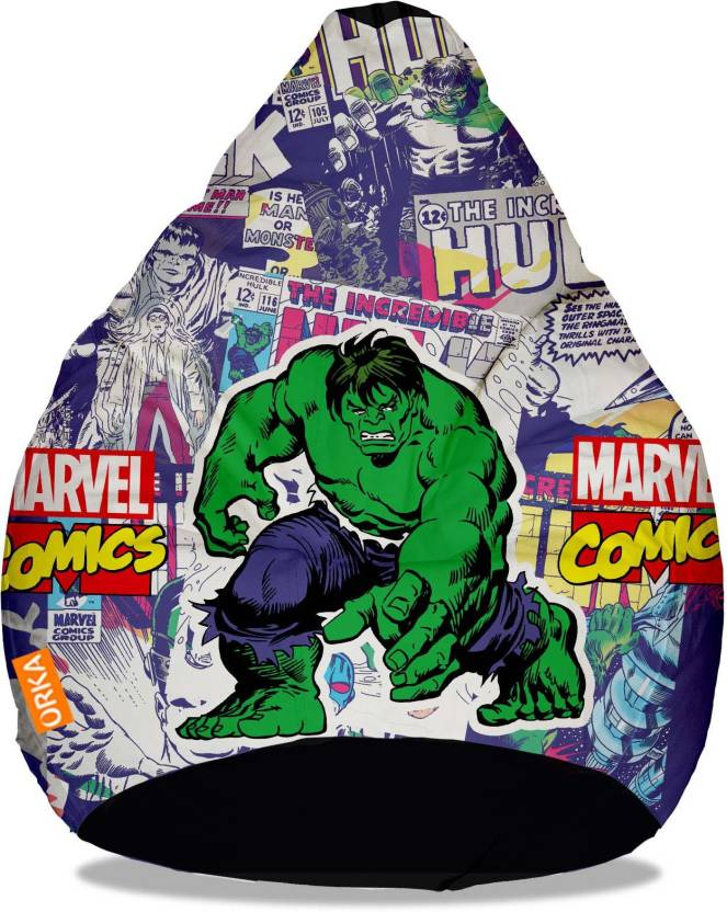 Tremendous Orka Xxxl Incredible Hulk Digital Printed Bean Bag With Gmtry Best Dining Table And Chair Ideas Images Gmtryco