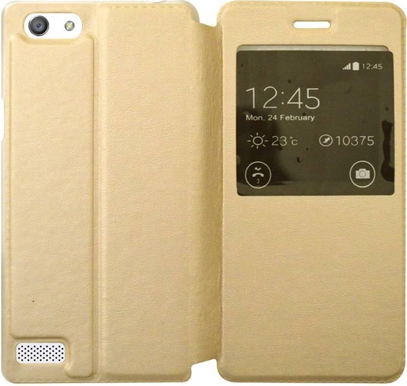 Spicesun Flip Cover for VIVO Y31L Gold