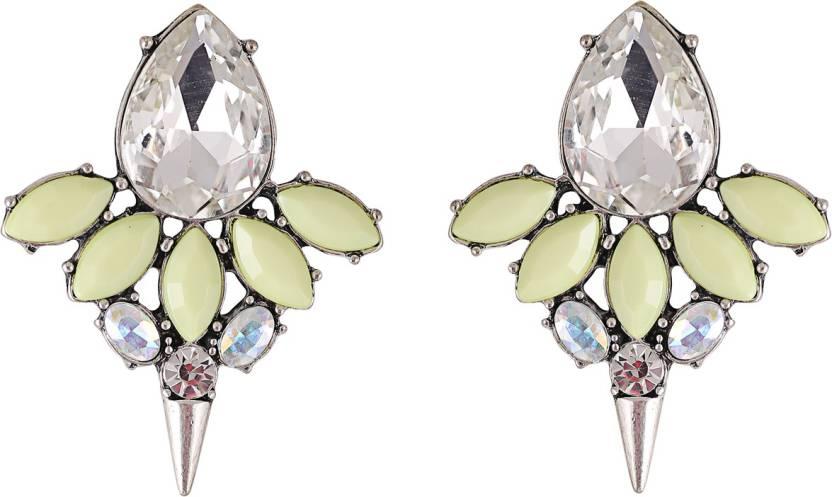 Flipkart Femnmas Yellow Flower Fashion Studs Alloy Stud Earring Online At Best Prices In India