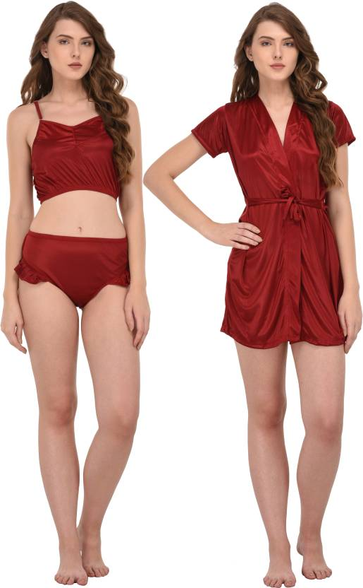 You Forever Women s Robe and Lingerie Set - Buy You Forever Women s ... b45b9a6e8