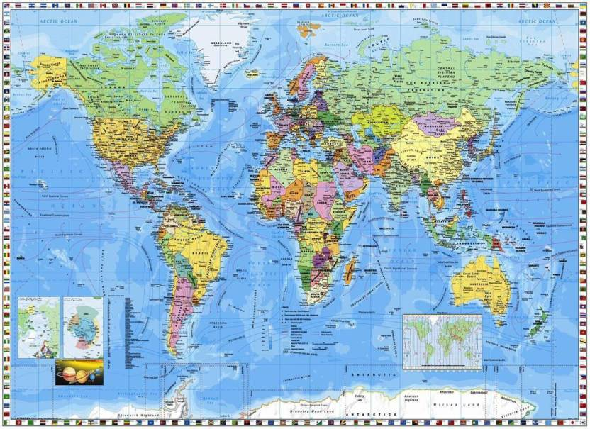 world map wallpaper.gif on LARGE PRINT 36X24 INCHES ...