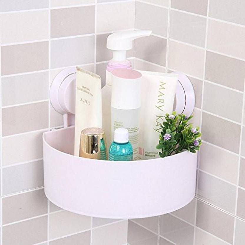 Zevora Plastic Interdesign Bathroom Kitchen Storage Organize Shelf Rack Triangle Shower Corner Caddy Basket With Wall