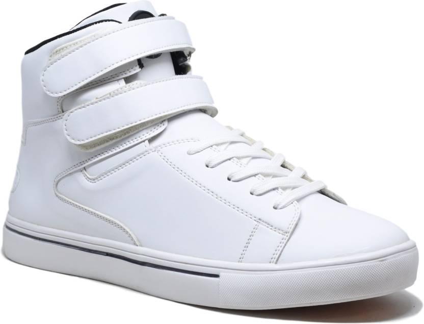 482795204105 DOC Martin White Everest Mid top Sneakers For Men - Buy White Color ...