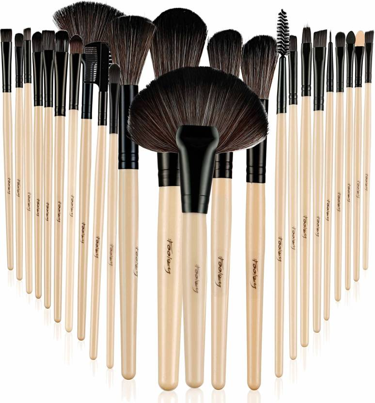 42849483fe57 Foolzy Pack of 24 Professional Makeup Brushes Set Kit