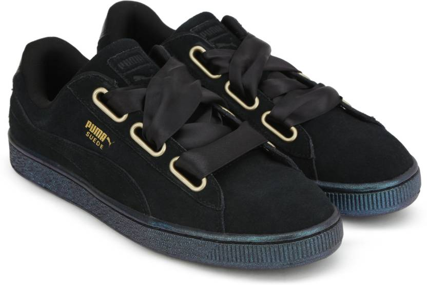 lowest price e5c64 14034 Puma Suede Heart Satin Wn s Casual Shoes For Women - Buy ...