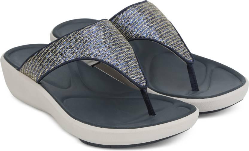 8b9d2cfa8 Clarks Women Flip Flops - Buy Navy Synthetic Color Clarks Women Flip Flops  Online at Best Price - Shop Online for Footwears in India