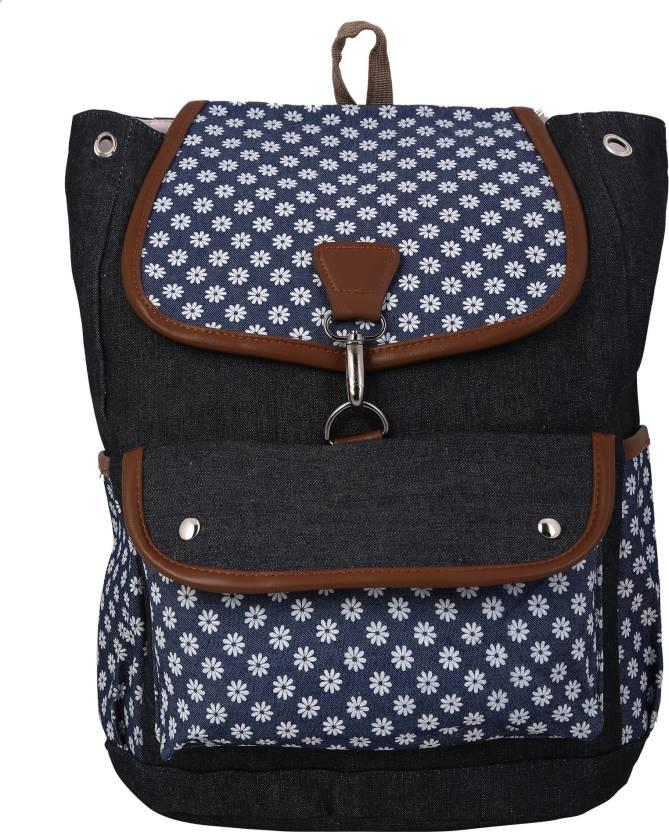 26b022ec07 Busta Black Color Faux Leather Backpack Bag For Women   Ladies   Girl  Backpack (Black