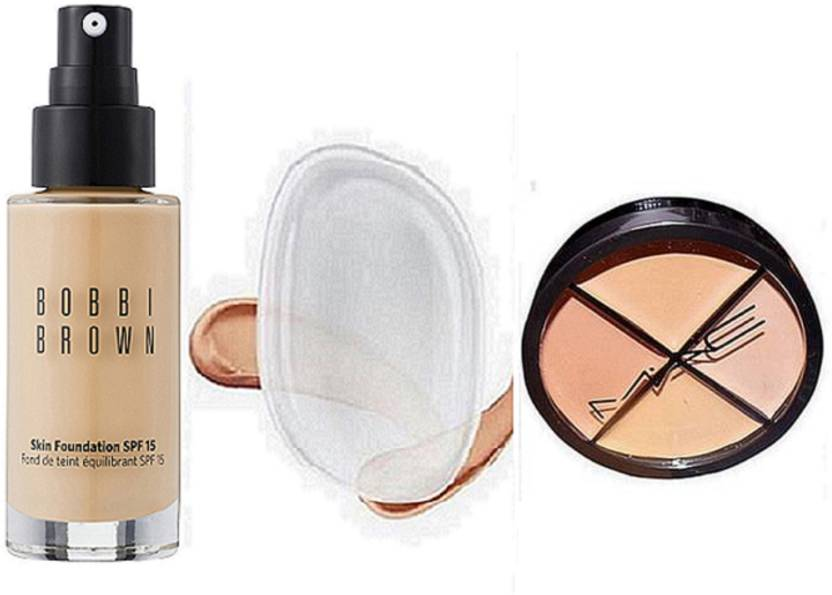 Bobbi Brown Skin Foundation Spf15 Fond De Teintsilicon Puff4shade