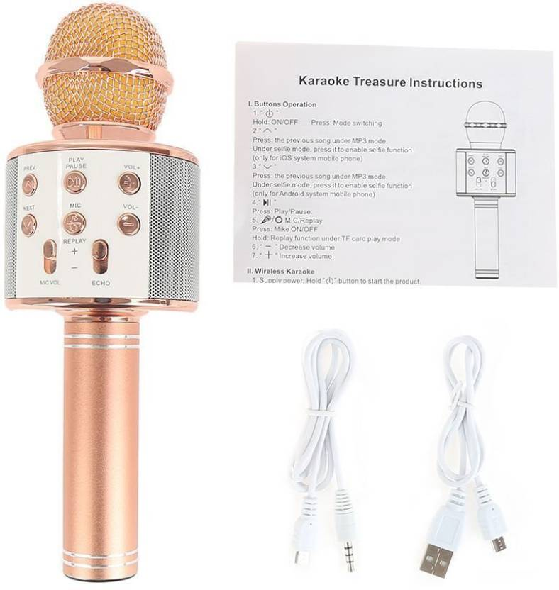 ShutterBugs WS-858 Wireless Handheld Bluetooth Mic with Speaker Microphone