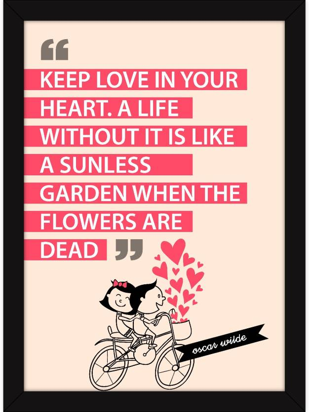 Framed Love Quotes On Family Wall Art Poster For Home Room And