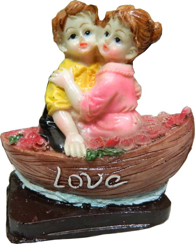 Touch India Valentine Romantic Love Couple Sitting On Boat Statue Home Decoration Gift Item Anniversary Birthday For One Girl Friend