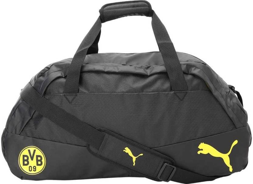 b878cbfa4f Puma BVB Performance Medium Bag Travel Duffel Bag Cyber Yellow-Black ...