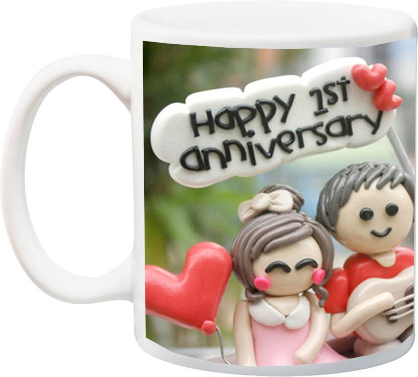 Stylotrendz Perfect Gift For 1st Anniversary Husband Wife Or Boyfriend Friend Ceramic Mug