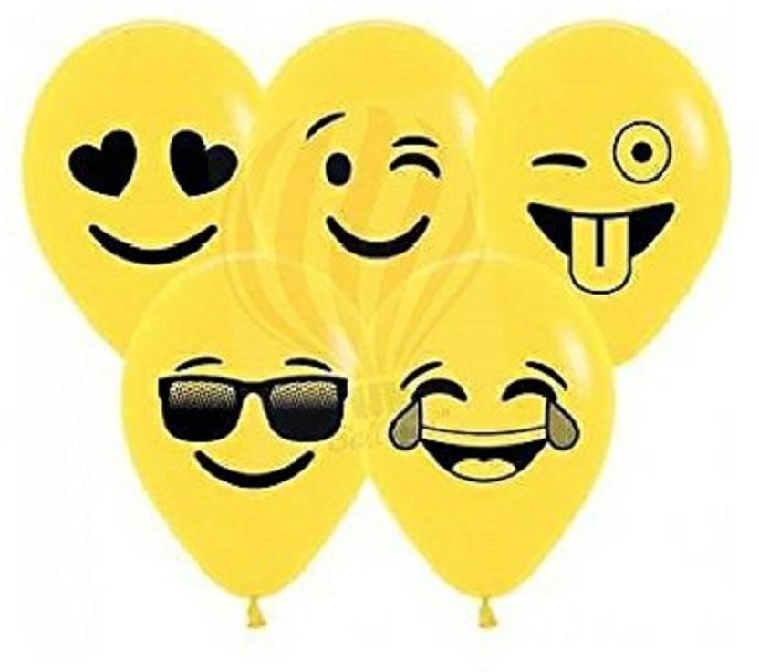 Flipkart Com Dhs Event Collection Printed Emoji Birthday Balloons