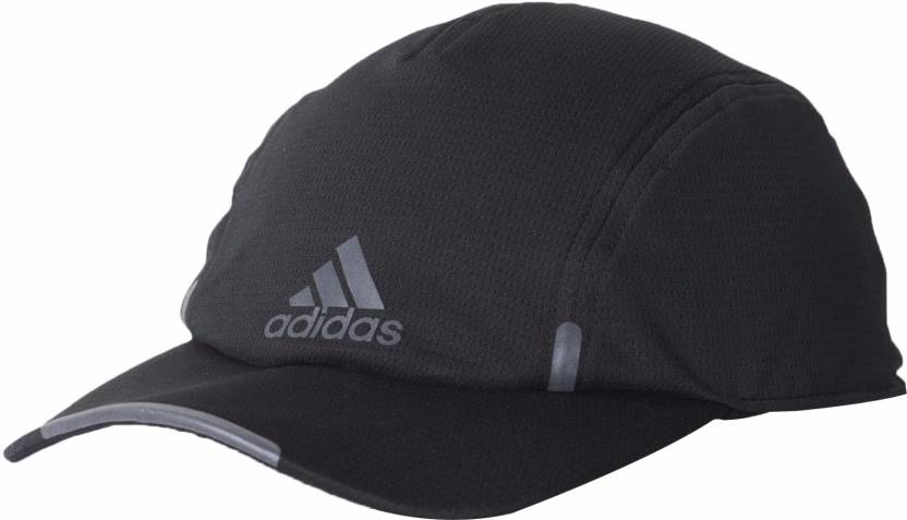 5b29d87394bb ADIDAS Solid Black Climacool Running Cap - Buy ADIDAS Solid Black Climacool  Running Cap Online at Best Prices in India
