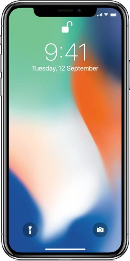 Apple iPhone X  Silver, 64  GB  Apple Mobiles