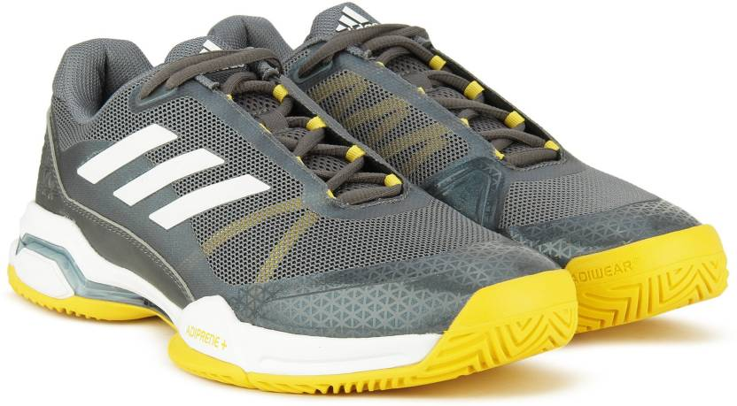 newest f2c43 57d83 ADIDAS BARRICADE CLUB Tennis Shoes For Men (Grey)