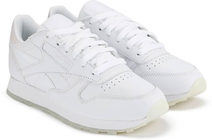 REEBOK CL LTHR L Running Shoes For Women - Buy WHITE WHITE ICE Color ... e1fb96fc8