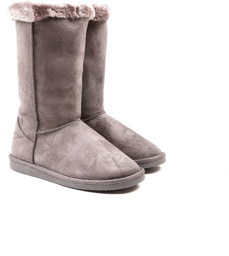 f7b4037bb2eb11 CL by Carlton London Snug Boots For Women - Buy GREY Color CL by ...