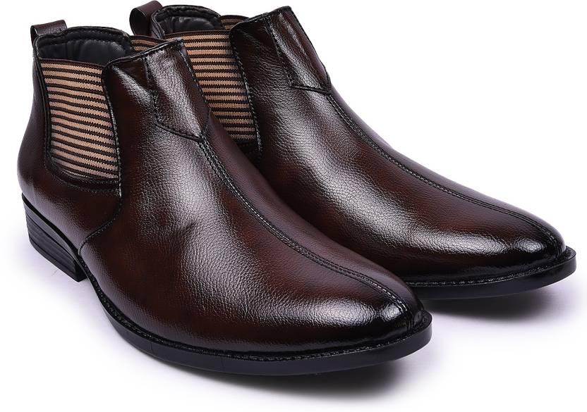 Andrew Scott Men s Brown Synthetic Formal Boots Slip On For Men (Brown) 1f5d3b0f815c