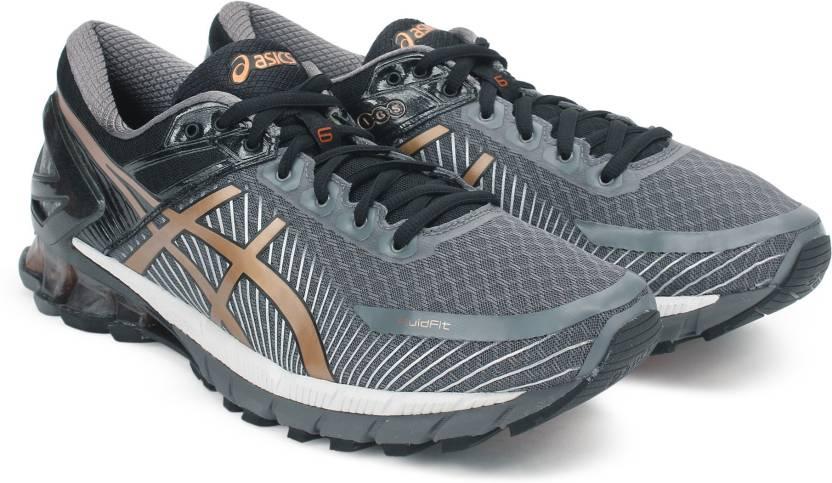 cheaper ccb7b 33e42 Asics GEL-KINSEI 6 RunningShoe For Men (Black, Grey)