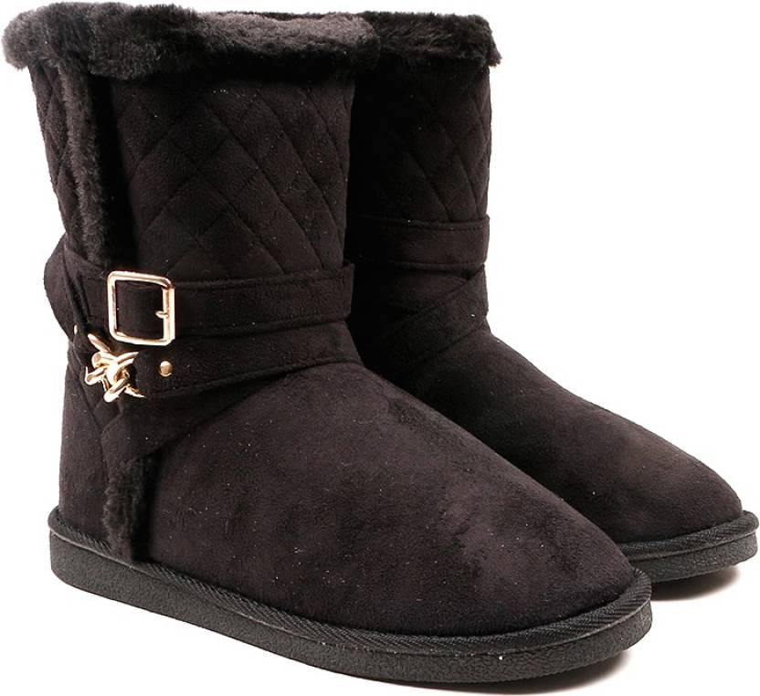 e6fcb7668d4d10 CL by Carlton London Snug Boots For Women - Buy BLACK Color CL by ...