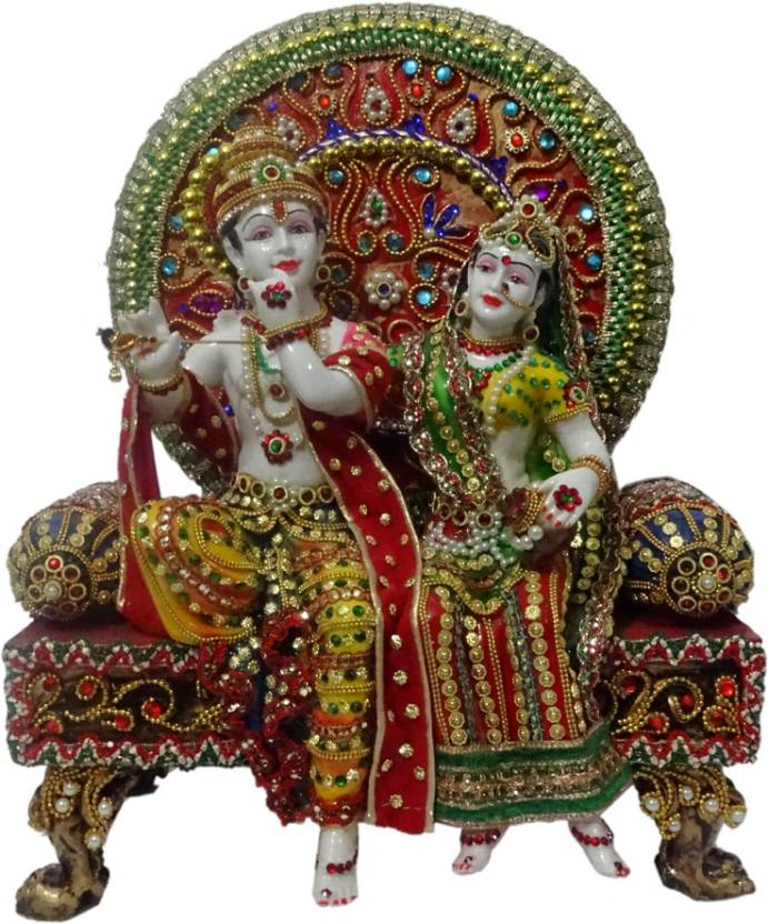 Boon BOON Radha Krishna Idol Decorative Showpiece - 44 cm Price in ...