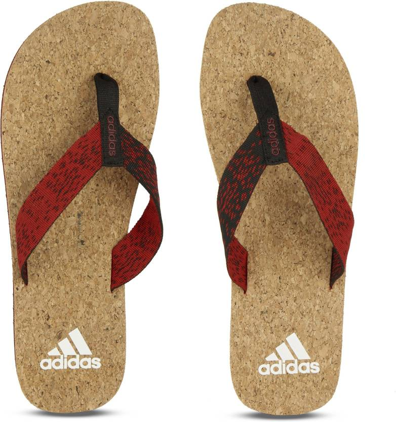 61a5842fb657 ADIDAS BEACH CORK THONG 2017 Slippers - Buy SCARLE BLACK WHITE Color ADIDAS  BEACH CORK THONG 2017 Slippers Online at Best Price - Shop Online for  Footwears ...