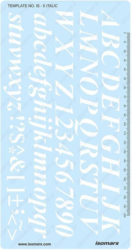 Isomars IS5 20mm 2cm Italic Italics Lettering Letters