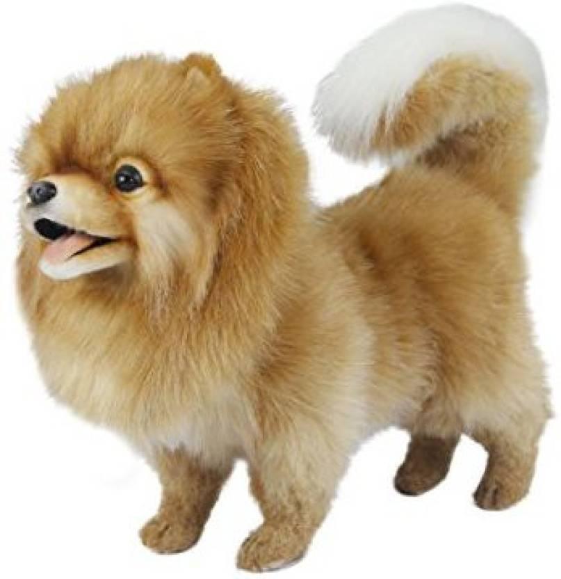 Hansa Pomeranian Dog Standing Plush Dog 8 Inch Pomeranian Dog