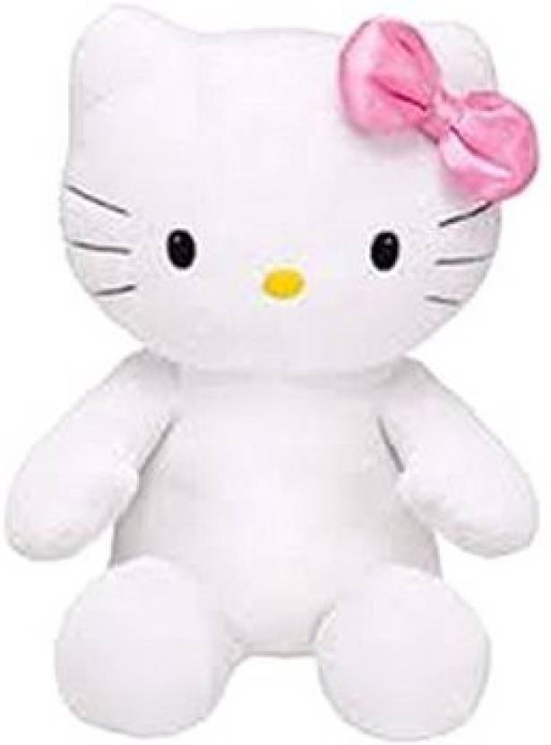 4079a489f Build A Bear Build a Bear Hello Kitty Pink Shimmery Bow Large.stuffed Plush  HK Sanrio Toy Animal - 18 inch (Multicolor)