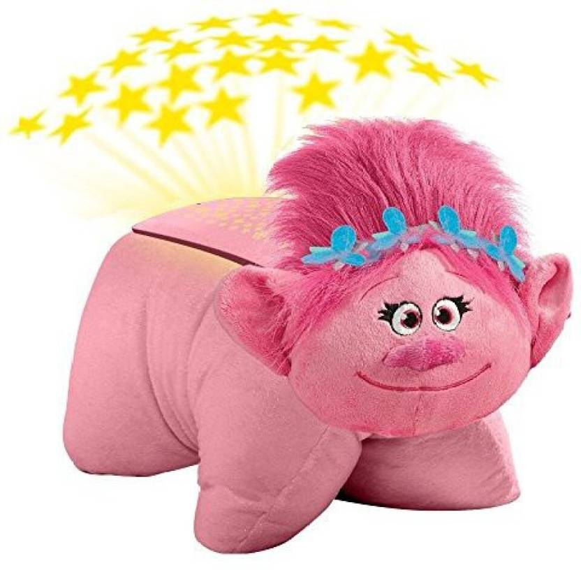afeb183b01f8 Pillow Pets DreamWorks Trolls Poppy - Poppy Dream Lites Stuffed Animal  Plush Toy - 6.5 inch (Pink)