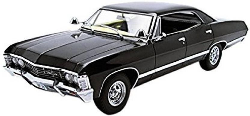 Greenlight Chevy Impala Supernatural TV Show Scale Black - Supernatural show car