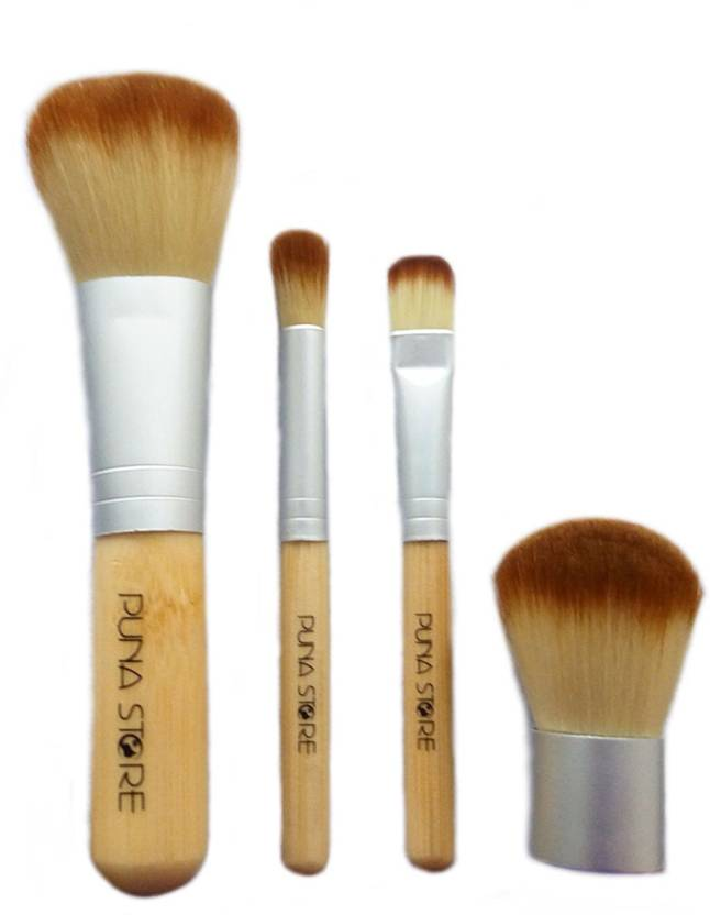 aef628592 Puna Store 4 Piece bamboo Makeup Brush Set - Price in India