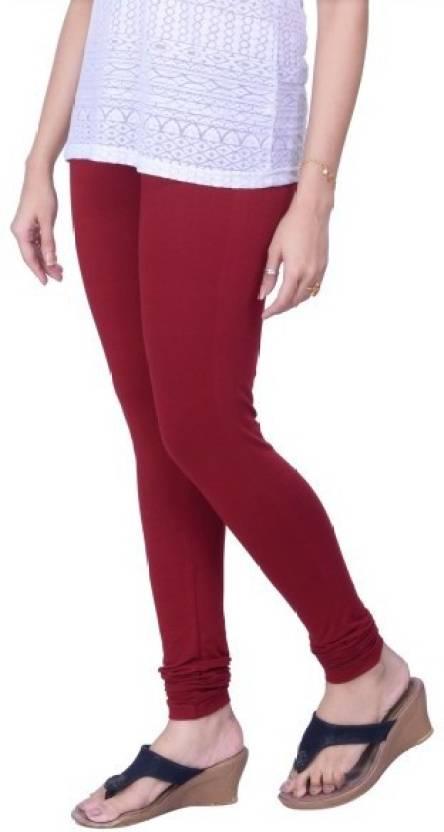 881e8a151e24d Lux Lyra Women's Maroon Leggings Churidar Legging Price in India ...